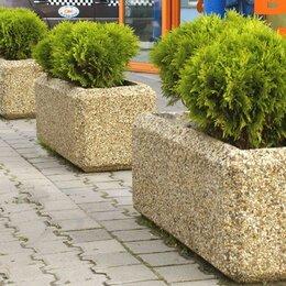 Садовые фигуры и цветочницы - Вазон бетонный Балено, 0