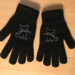 Перчатки и варежки - Перчатки с кошечками на девочку, 0