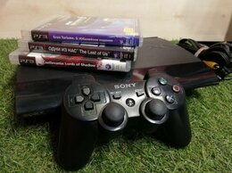 Игровые приставки - Sony Playstation 3 Super Slim, 320Gb + Игры, 0