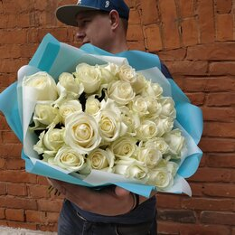 Цветы, букеты, композиции - Букет белых роз, 0