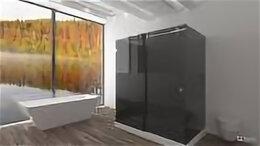 Души и душевые кабины - Душевой уголок П-образной формы из стекла триплекс, 0