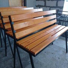 Скамейки - Скамейка парковая 1,5м цвет ОРЕГОН с удл.ножками под бетонирование., 0