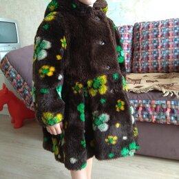 Пальто и плащи - Шуба искуственная., 0