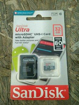 Карты памяти - Карта памяти SanDisk microSDHC 32Gb Ultra 80MB/s, 0