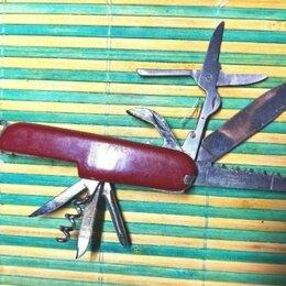 Ножи и мультитулы - Нож складной мультитул винтаж, 0