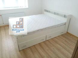 Кровати - Кровать двуспальная с матрасом и ящиками , 0