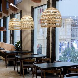 Люстры и потолочные светильники - Светильник абажур плетеный , 0