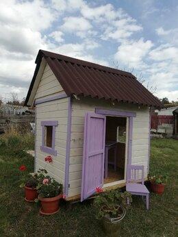 Игровые домики и палатки - детский игровой садовый домик из дерева, 0