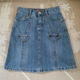 Юбки - Джинсовая юбка в хорошем состоянии.  SIZE: 26. Размер: 42-44, 0