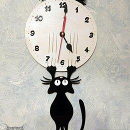 Часы настенные - Часы с котом, 0