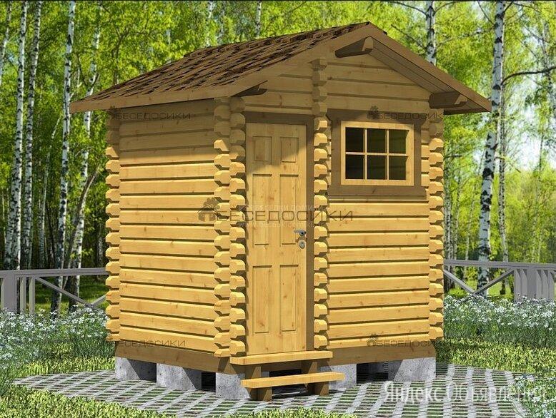 Деревянный летний душ с раздевалкой 2,5х2 «Дождик» по цене 79900₽ - Души, фото 0