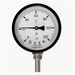 Метеостанции, термометры, барометры - Термометр биметаллический ТБП- Т L=100 Дк100 160C ЗаводТеплИзд, 0