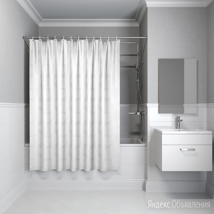 Штора для ванной комнаты Iddis B56P118i11 180х180 см полиэстер по цене 1040₽ - Комплектующие, фото 0