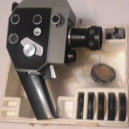Видеокамеры - Кинокамера «Кварц-2х8с-3» 8 мм. СССР., 0