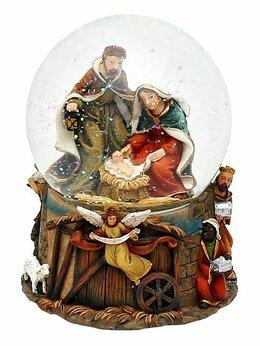 """Ёлочные украшения - Снежный шар музыкальный """"Рождение Иисуса""""…, 0"""