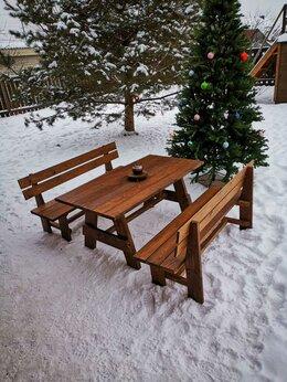 Столы - Стол и две лавочки, 0