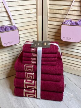 """Полотенца - Комплект из 8-ми махровых полотенец """"Versace"""", 0"""