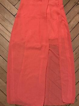 Юбки - Новая юбка макси с вырезом розовая, 0