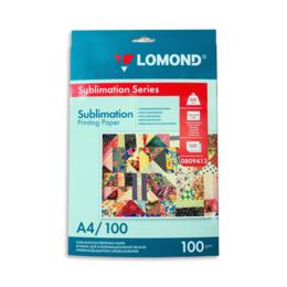 Бумага и пленка - Сублимационная бумага Lomond А4, 100 г/м2, 100л, 0