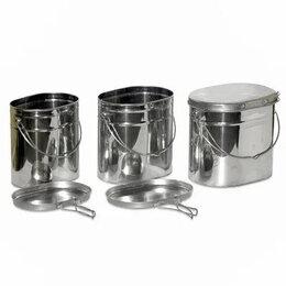Туристическая посуда - Котелки из нержавейки с крышкой 4.5л, 0