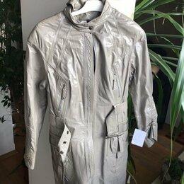 Плащи - Плащ-куртка новый, натуральная лаковая кожа, 0