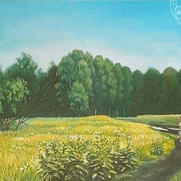 Картины, постеры, гобелены, панно - Картина маслом Летний пейзаж, 0