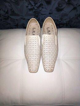 Мокасины - Мужские туфли с перфорацией(41 размер), 0