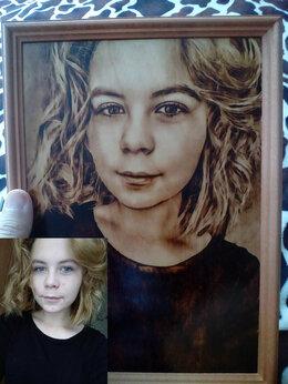 Картины, постеры, гобелены, панно - Портреты выжженные на дереве, 0