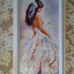 Картины, постеры, гобелены, панно - Картина маслом с девушкой Нежность (девушка ню, живопись, мастихин), 0
