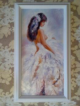 Картины, постеры, гобелены, панно - Картина маслом с девушкой Нежность (девушка ню,…, 0
