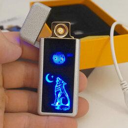 Пепельницы и зажигалки - Зажигалка USB Волк, 0