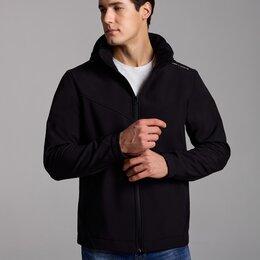 Куртки - Мужские куртки утепленные флисом черные (46-58), 0