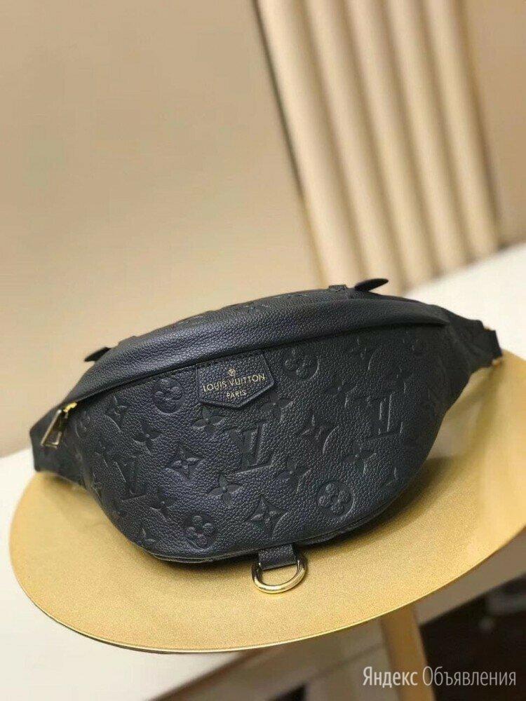 Сумка на пояс Louis Vuitton кожаная черная новая по цене 22000₽ - Сумки, фото 0