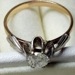 Кольца и перстни - Кольцо с бриллиантом 0,5 карат, 0