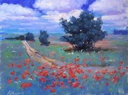 """Картины, постеры, гобелены, панно - Картина """"Цветы у дороги"""" (холст, масло), 0"""