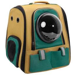 Транспортировка, переноски - Рюкзак-переноска с иллюминатором для собак и кошек, 0