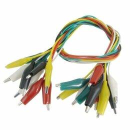Кабели и провода - Провода тестовые крокодилы 10 шт, 0
