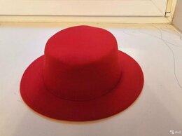 Головные уборы - Фетровая красная шляпа винтаж, 0