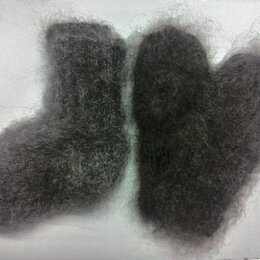 Комплекты - Комплект козий пух носки и варежки, 11-12 р пуховый детский комплект , 0