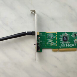 Оборудование Wi-Fi и Bluetooth - WiFi приемник роутер адаптер PCI, 0