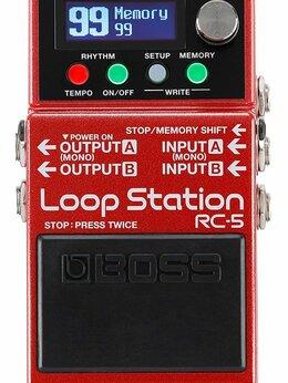 Процессоры и педали эффектов - Boss RC-5 гитарная педаль лупер, 0