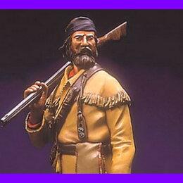 Сборные модели - 1/16 модель солдат фигурка охотник Амос Гарретт 1837 PILIPILI MINIATURES Фа 04, 0