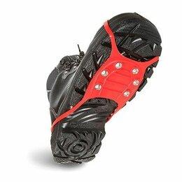 Стельки и шнурки - Ледоходы 6 шипов (красная резина) (Россия), 0