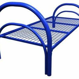 Кровати - Кровати металлические одноярусные сеткой  сварной 100х50, 0