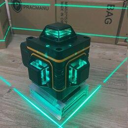 Измерительные инструменты и приборы - Лазерный уровень, 4Д, 16 линий, зеленый луч, новый, 0