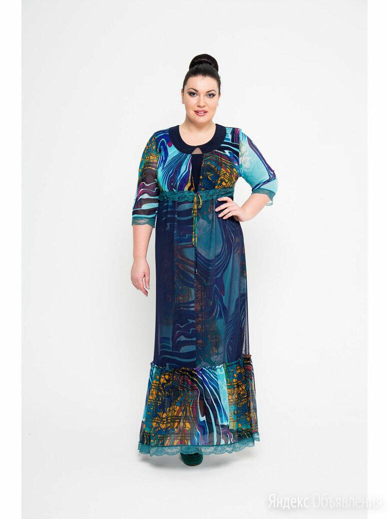 Платье большого размера KR стиль р.60 по цене 2500₽ - Платья, фото 0