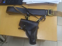 Ремни и пояса - Ремень офицерский кожаный и кобура под пм +, 0