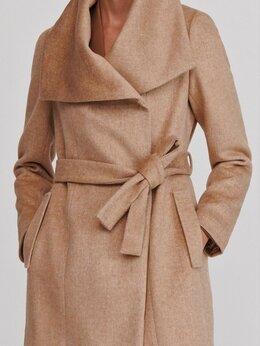 Пальто - Новое Пальто Полушерстяное с широким воротником, 0