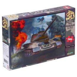 Пазлы - 3D Пазл «Танк Т-34», 0