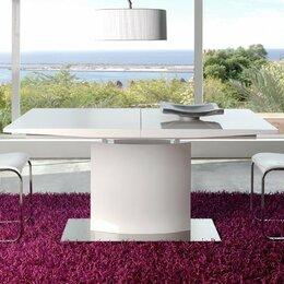 Столы и столики - Обеденный стол раздвижной 160-200 см белый ESF, 0